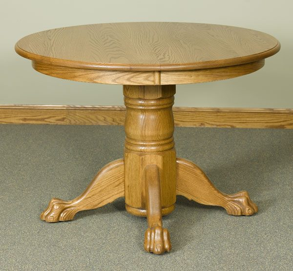 42 round pedestal table with claw feet walnut creek furniture. Black Bedroom Furniture Sets. Home Design Ideas