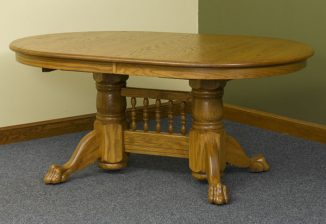 Double Pedestal Claw Foot Table