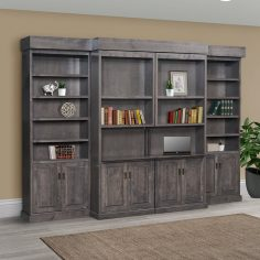 Pro Pulse Wall Bed - Brown Maple with Antique Slate stain - Amish Furniture